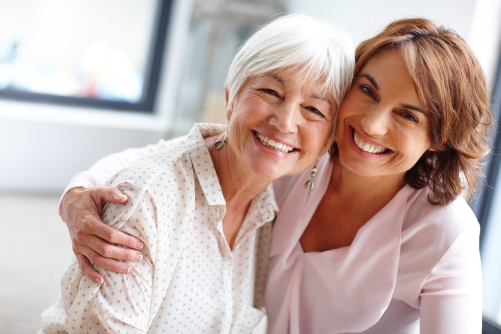 Shot of a woman spending time with her elderly mother