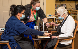 Art therapy for memory care residents